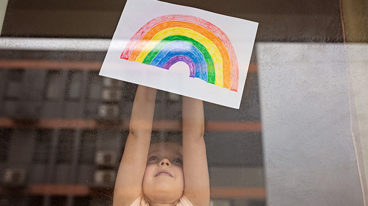 Kid with Rainbow